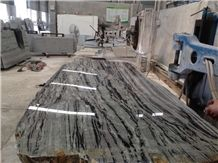 Huaan Jade Grey and Black Granite Slabs,Grey and Black Granite