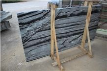 Huaan Jade Grey and Black Onyx Slabs