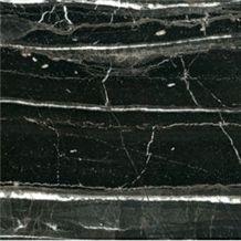 Nero Marquina Slabs & Tiles, China Black Marble