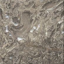 Overload Flower Slabs & Tiles, China Grey Marble