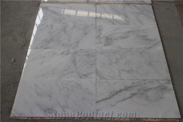 Asian Statuary White Marble Chinese Carrara Slabs Tiles