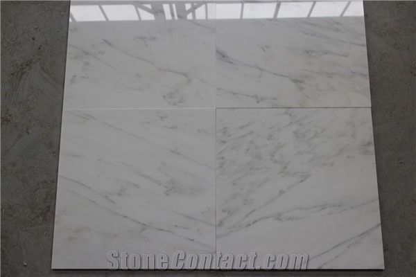Asian Statuary White Marble Chinese Carrara Slabs Tiles