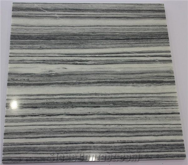 Striped Grey Marble Slabs Tiles China