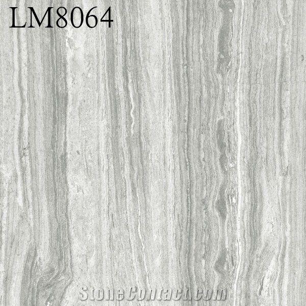 Wood Finish Light Color Grey Ceramic Floorings Tiles