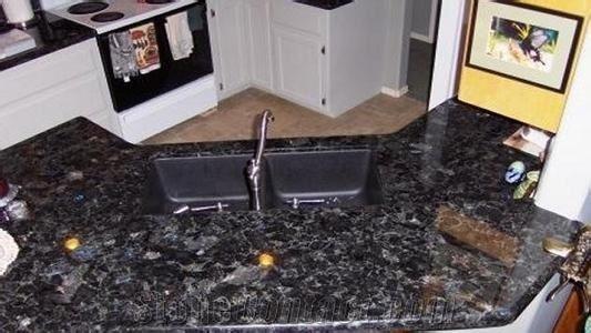 Volga Blue Granite Kitchen Countertops from China ...