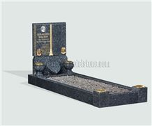 Blue Pearl Granite Tombstone&Monument, European Headstone,Book Carving
