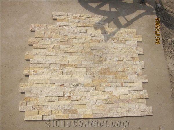 Travertine Cultured Stone Wall Cladding Tiles Ledgestone