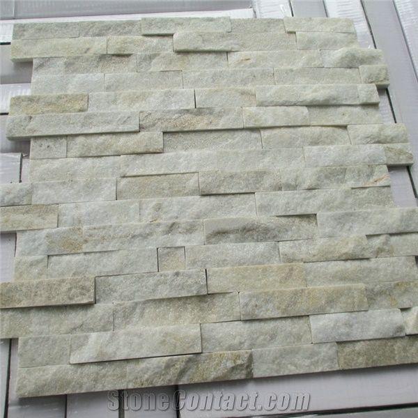 White Quartzite Interior Wall Decoration Tiles White