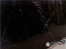 Black Markina Marble Slabs & Tiles, Spanish Black Marble Slabs & Tiles