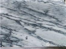 Magic Blue Marble Tiger Skin Slabs & Tiles, Italy White Marble
