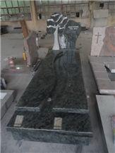 Monument in Olive Green Granite