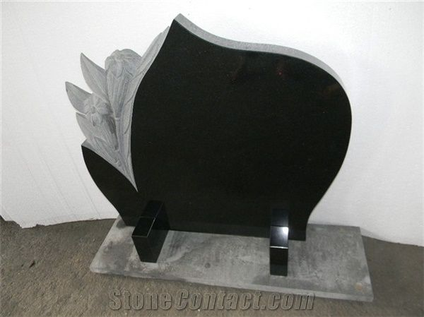 Flower Shape Headstone Carved Flowers Headstone Monuments