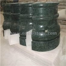 India Green Marble Columns