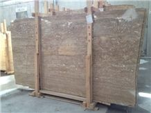 Noche Travertine Slabs & Tiles, Turkey Brown Travertine