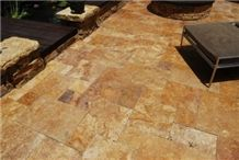 Yellow Travertine Slabs & Tiles, Turkey Yellow Travertine Floor Tiles, Wall Tiles