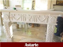 Fireplace Mantels Handcarved, White Limestone Fireplace Mantels