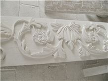 Limestone Hand Carved Wall Relief, White Limestone Wall Reliefs