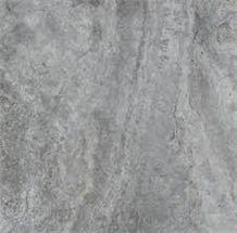 Silver Travertine, Titanium Travertine Block