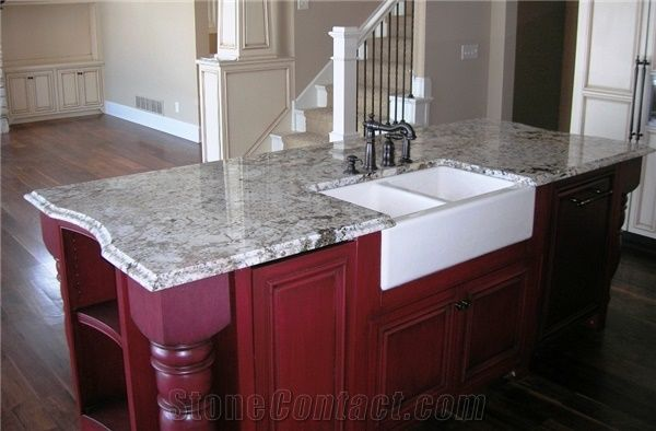 Delicatus Granite Island Top with Farm Sink, Delicatus ... on Kitchen Farmhouse Granite Countertops  id=29503