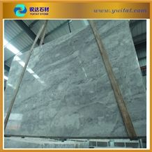 Chinese Shangri-La Grey Marble Light Color Slab, China Cloudy Grey White Marble