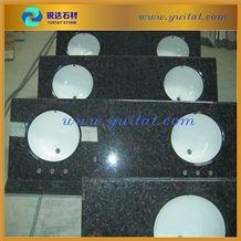 Tan Brown Granite Bathroom Vanity Top in Stock