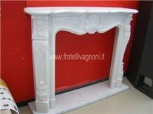 Bianco Carrara Marble Fireplace