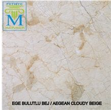 Aegean Cloudy Beige Marble Slabs & Tiles, Turkey Beige Marble