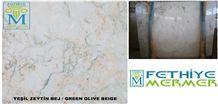 Green Olive Beige Slabs & Tiles, Verde Olive Marble