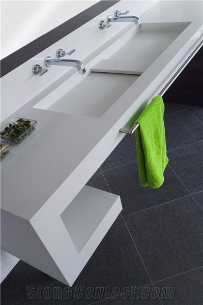 Diresco supreme white quartz stone vanity top from poland Supreme white granite pictures