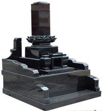 Premium Black Granite Japanese Monuments