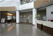 Crema Cabrera Granite Floor Application Project Slabs
