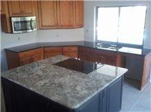 Delicatus White Granite Kitchen Island Top