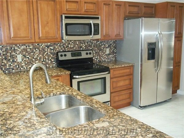Giallo Fiorito Granite Kitchen Countertop From United