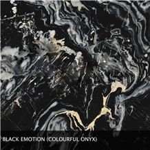 Black Emotion Onyx,Black Onyx Slabs & Tiles