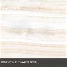 Ivory Onyx Veincut Polished White Onyx Slabs, Turkey White Onyx