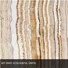 Sef Onyx, Golden Line Onyx Slabs & Tiles