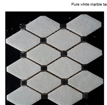 Pure Crystal White Marble Mosaic
