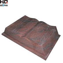 Red Color Granite Book Shape Slant Grave Monuments