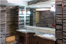 Black and Grey Marble Bathroom Design Project