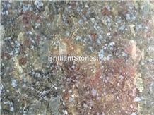 China Butterfly Blue Granite Slab 3cm