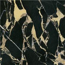 China Portoro Gold Marble Slabs & Tiles, China Black Marble