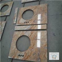 Polished Desert Storm Granite Bath Countertop