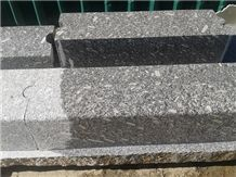 Azul Anochecer Granite Kerbstone, Faces Flamed, Azul Anochecer Granite