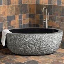 Bathroom Stone Bathtub, G654 Dark Grey Granite Bathtub