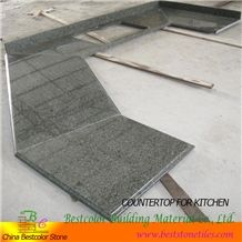 Chinese Chengde Green Granite Kitchen Counter Top L, Chengde Stone Green Granite Kitchen Countertops