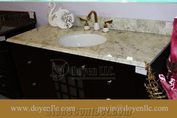 Andromeda White Granite Bathroom Vanity Top Sink From China