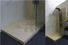 Beige Quartz Bathroom Shower Tubs & Wall Designs, Beige Quartz Bath Design