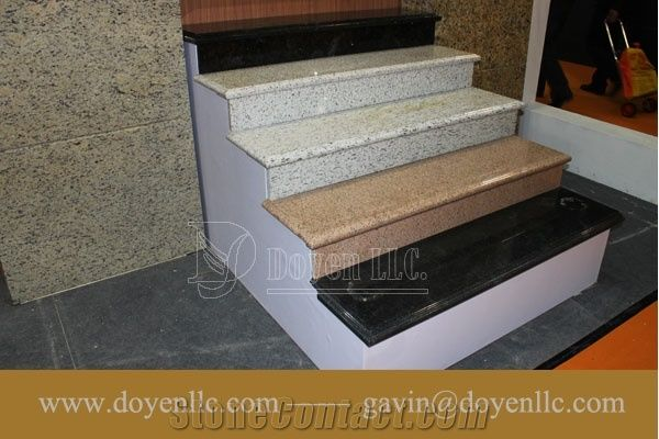 Bethel White Granite Interior Stair Treads Steps And