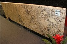 Brazil Absolute Cream Beige & Golden Granite Kitchen Prefab Countertops with Fbn Edge