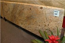 Brazil Mary Gold Golden Granite Prefab Countertops
